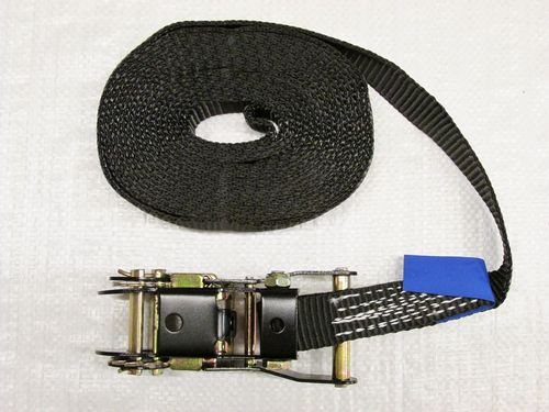 Black 25MM X 5M Tie Down Ratchet Strap Lashings